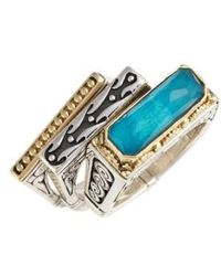 Konstantino | 'iliada' Stacking Doublet Rings (set Of 3) | Lyst