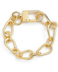Vince Camuto - Crystal Clasp Chain Bracelet - Lyst