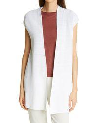 Eileen Fisher Organic Linen & Cotton Vest - White