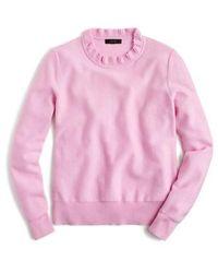 J.Crew | J.crew Ruffle Neck Pullover Sweater | Lyst