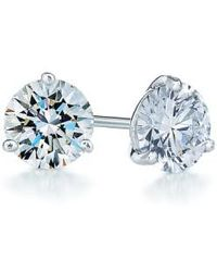 Kwiat - 0.75ct Tw Diamond & Platinum Stud Earrings - Lyst