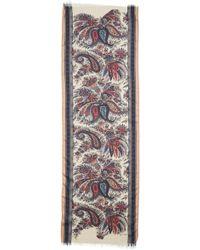 Etro Calcutta Paisley Swirl Cashmere & Silk Scarf - Multicolour