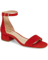 4ef4cf1bd684 Lyst - Vince Camuto Red  cashane  Open Toe Sandals in Red