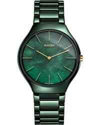 Rado - True Thinline Ceramic Bracelet Watch - Lyst
