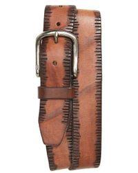 John Varvatos   John Varvatos Star Usa Etched Edge Leather Belt   Lyst