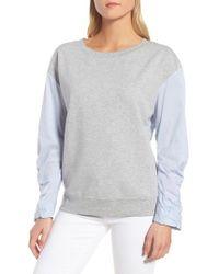 Trouvé - Knit & Poplin Sweatshirt - Lyst