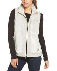 The North Face - Faux Fur Vest - Lyst