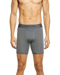 Tommy John Second Skin Boxer Briefs - Gray