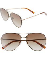 Rebecca Minkoff Gloria2 59mm Aviator Sunglasses - Light Gold - Metallic