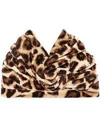 Gucci - Lucileo Leopard Velvet Turban Headband - Lyst
