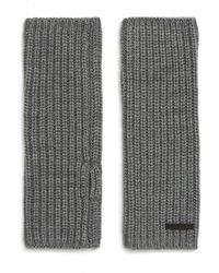 AllSaints Half-cardigan Stitch Arm Warmers - Gray