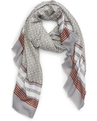 Ted Baker Mono Wide Scarf - Gray