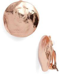 Karine Sultan - Eva Shell Disc Clip-on Earrings - Lyst