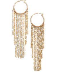 Serefina - Waterfall Hoop Earrings - Lyst