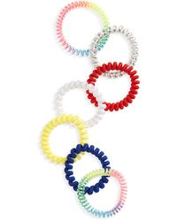 BP. Be Proud By 7-pack Gender Inclusive Assorted Hair Ties, None - Red