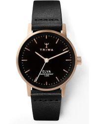 Triwa Elva Leather Strap Watch - Multicolor