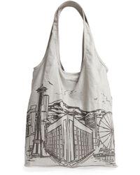 Nordstrom - Packable Print Shopper - Metallic - Lyst