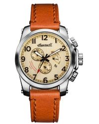 INGERSOLL WATCHES | Ingersoll Manning Chronograph Leather Strap Watch | Lyst