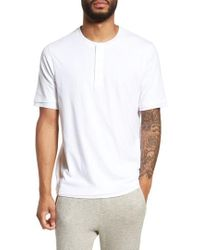 Vince - Layered Henley T-shirt - Lyst