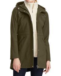 Lauren by Ralph Lauren - Hooded Soft Shell Raincoat - Lyst