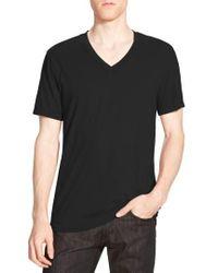 James Perse - Short Sleeve V-neck T-shirt - Lyst