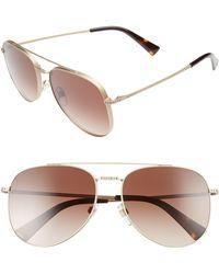 Valentino - 56mm Aviator Sunglasses - - Lyst