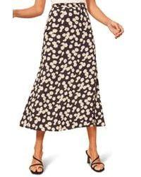 Reformation Bea Midi Skirt - Black