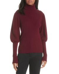 MILLY - Bishop Sleeve Cashmere Sweater - Lyst