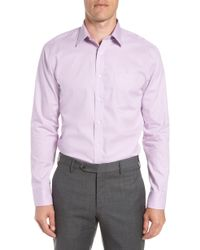 Nordstrom - Trim Fit Non-iron Solid Dress Shirt - Lyst