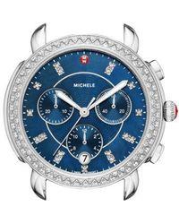 Michele - Sidney Chrono Diamond Diamond Dial Watch Case - Lyst
