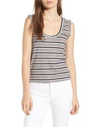 Cupcakes And Cashmere - Brittney Mixed Stripe Tank - Lyst