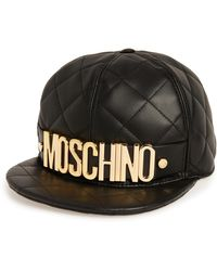 Moschino - Quilted Leather Baseball Cap - Lyst 797738ff5e7d