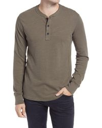 Rag & Bone Classic Slim Fit Henley - Green