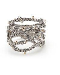 Alexis Bittar Georgian Pavé Orbit Ring - Metallic