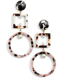 Lele Sadoughi - Cage Imitation Pearl Drop Earrings - Lyst