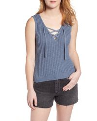 Roxy - Grove Court Delight Ribbed Tank Top - Lyst
