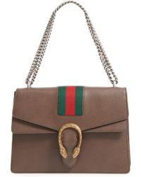 e7df9ed7b734 Gucci - Dionysus Web Stripe Leather Shoulder Bag - Lyst