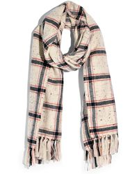 Madewell Knotted Fringe Scarf In Hanstone Plaid - Multicolor