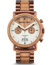 Original Grain - Alterra Chronograph Bracelet Watch - Lyst