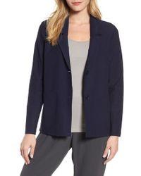 Eileen Fisher - Notch Collar Boxy Jacket - Lyst