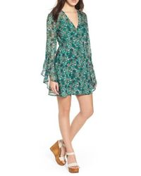 The Fifth Label - Viridian Floral Wrap Dress - Lyst