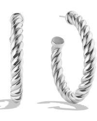 David Yurman Cable Classics Hoop Earrings - Metallic