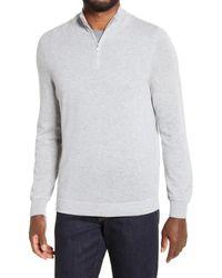 Nordstrom Quarter Zip Cashmere Sweater - Gray