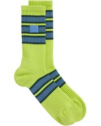 Acne Studios Face Patch Socks - Green