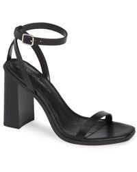 718b72c1b65 BCBGMAXAZRIA Dag Smooth Leather Toe Loop Mule Sandal in Black - Lyst
