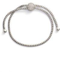 John Hardy - Classic Chain Diamond Pull Through Bracelet - Lyst