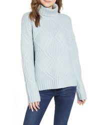 Caslon - Caslon Chunky Cable Knit Turtleneck Sweater - Lyst