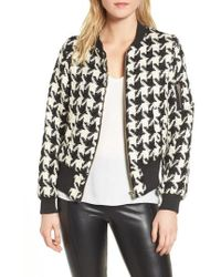 BISHOP AND YOUNG - Bishop + Young Houndstooth Bomber Jacket - Lyst