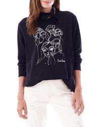 Loyal Hana Sasha Maternity/nursing Sweatshirt - Black