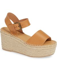 6af11b3fef4 Lyst - Soludos Tall Lace Up Espadrille Wedge Sandals in Black